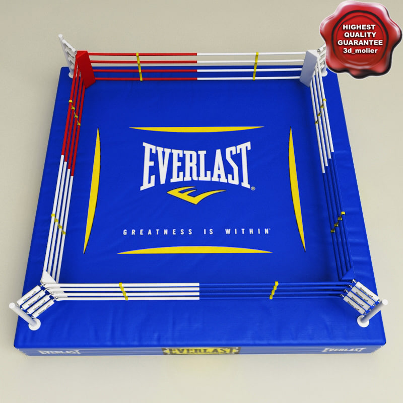 3d boxing ring v2 model