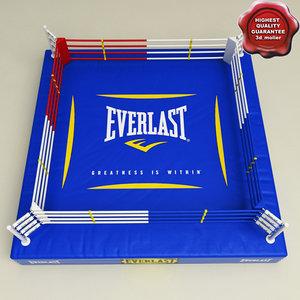3d boxing ring v2 model