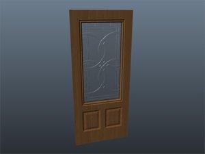 3d exterior door glass