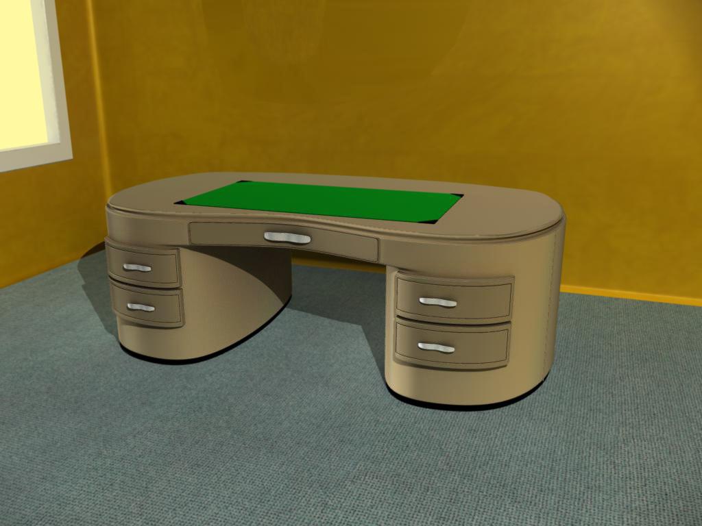 office desk 3d obj