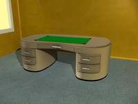 office desk 3d obj