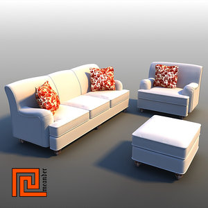 3ds furniture set sofa armchair