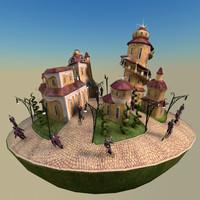 Fantasy Island Town Scene