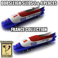 3dsmax bobsleigh sled - france