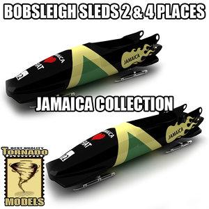 bobsleigh sled - jamaica max