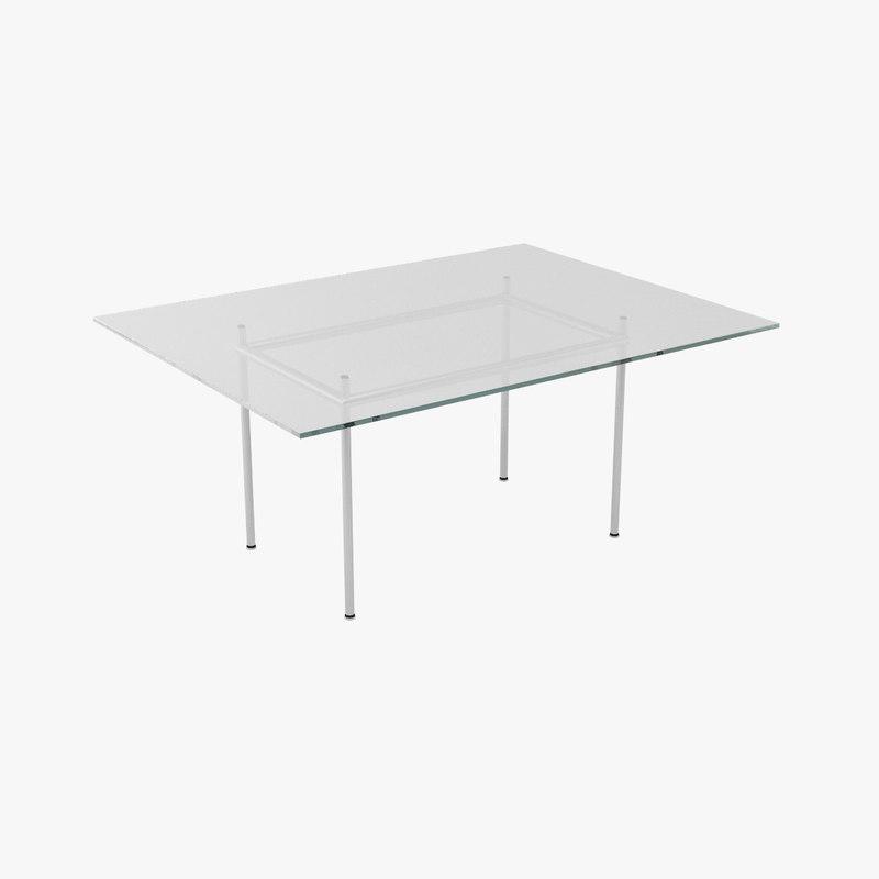 3d le corbusier tables