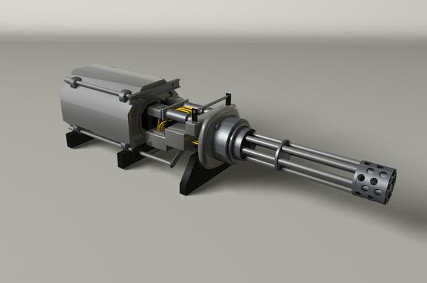 3d gatling gun