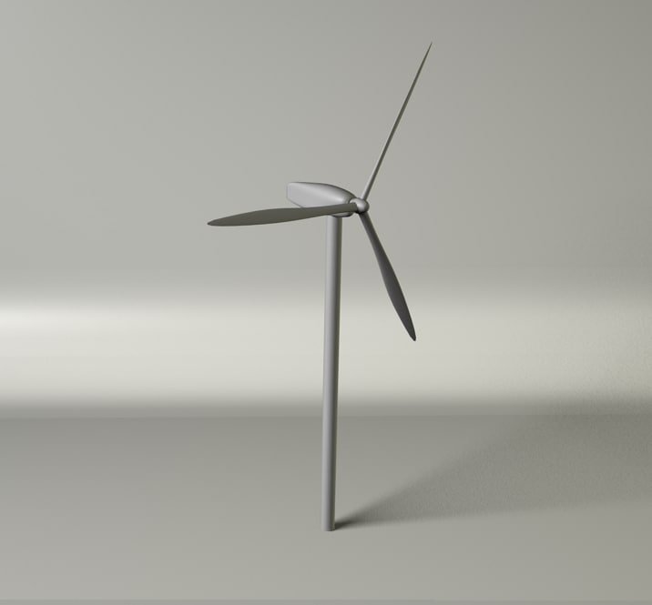 cinema4d wind turbine