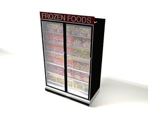 3d grocery store freezer model
