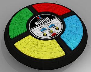 toy simon 3d model