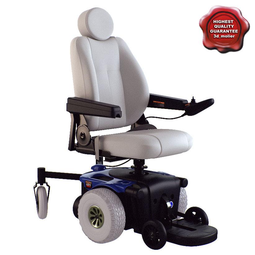 power wheelchair 3d max