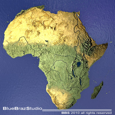 Map Of Africa 3d.3d Model Africa Maps