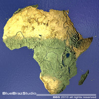 3d model africa maps