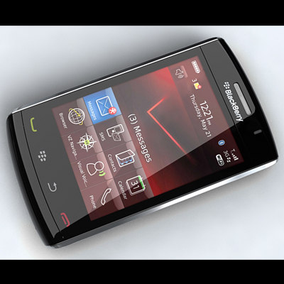 3d model blackberry storm 2 9520