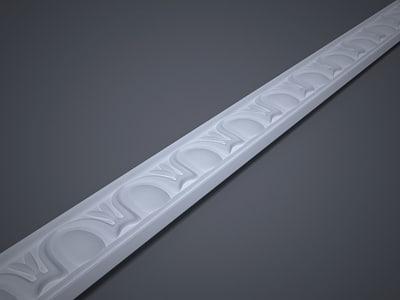 decorative lath 3d model
