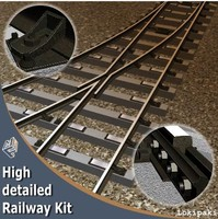 3d model of railway kit
