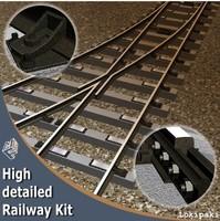 3d model of railway kit
