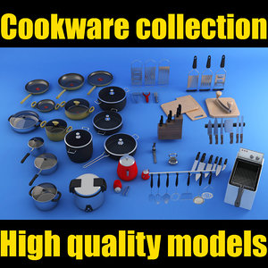 cookware settings 3d max