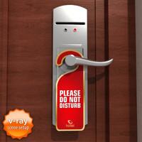 3d hotel door handle model