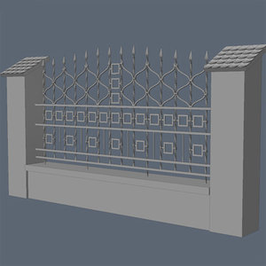 3ds max fence exterior visualization