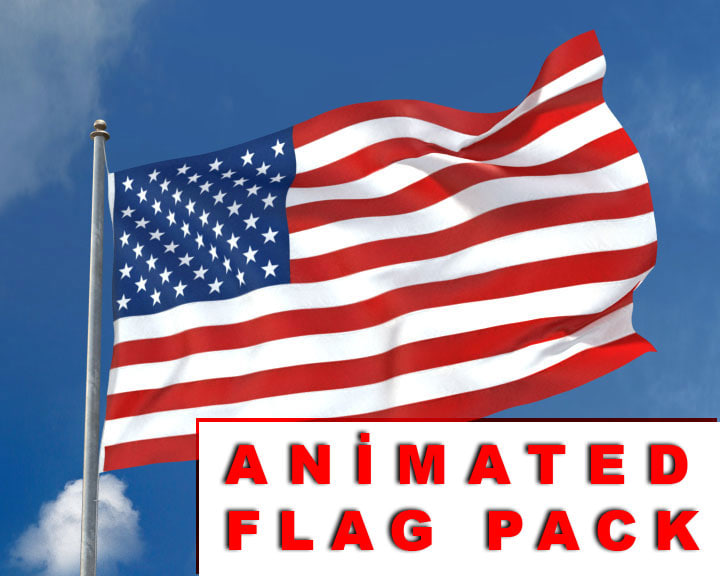 3d model of realistic flag