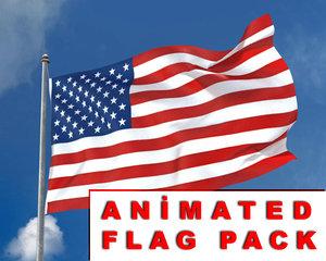 3d model of realistic flag