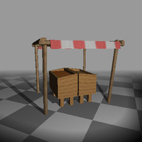 Fruit Stand, Low Poly!
