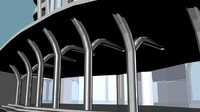 3d skyscraper futuristic model