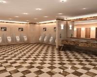 toilet interior 3d