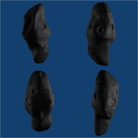 meteor 3d model