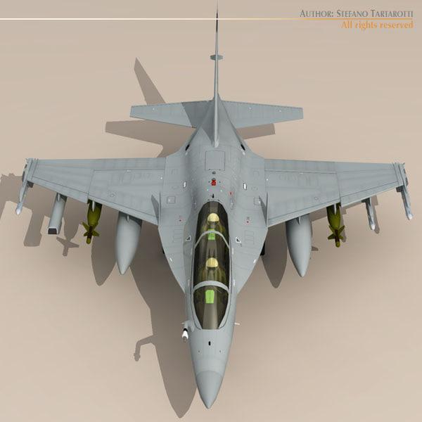 3d m-346 striker fighters model