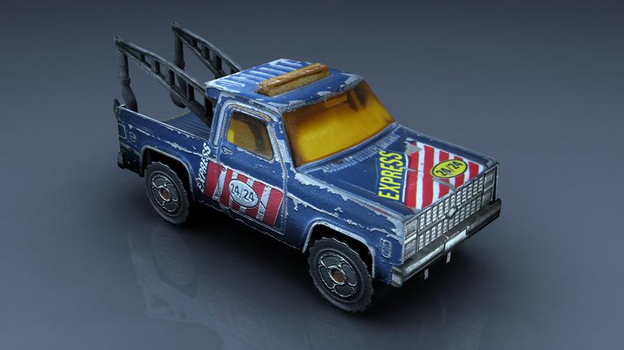 obj crane toy car