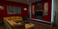 3ds max lounge room interior