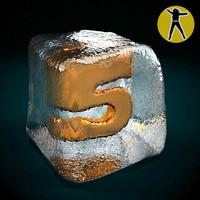 3d model of ice cube