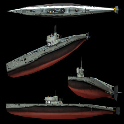 3ds max submarine marine