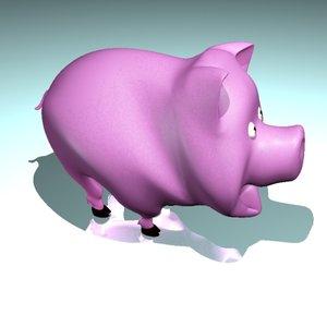3dsmax cute pig