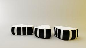moroso pouf 3d model