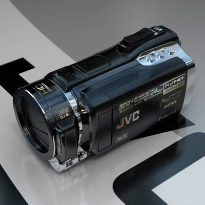 jvc camcorder gz-hm400 hd 3d model