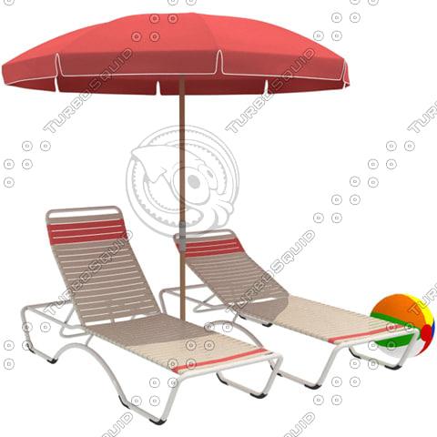 maya chaise lounge beach ball