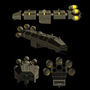 3dsmax ship sf