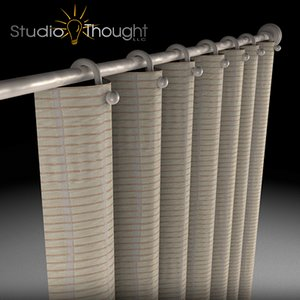 3d window drapes shower curtain