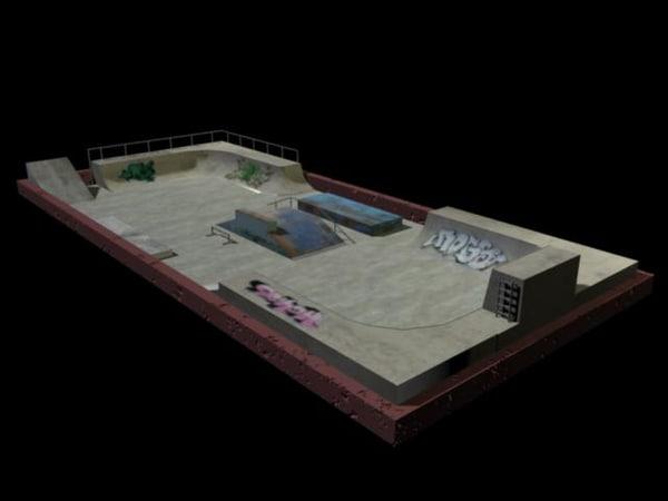 3d skatepark skate