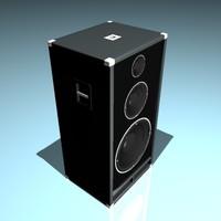 speaker music 3d max