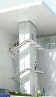 steel stairs 3d max