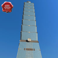 taipei 101 tower 3d model