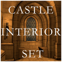 Castle Interior Set, Low Poly