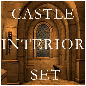 blender castle interior set