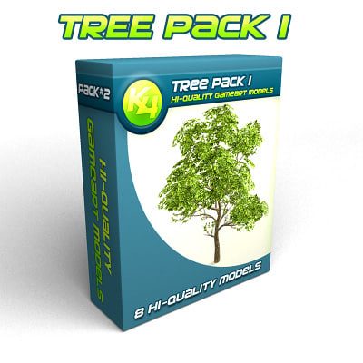 free obj mode tree pack