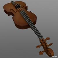 3d model classic violin