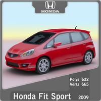 2009 honda fit sport 3d max